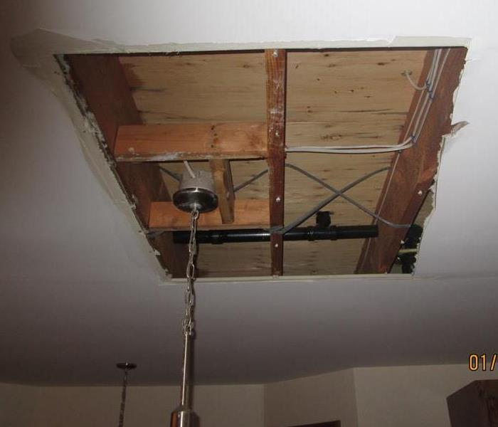 Photo of remediated ceiling