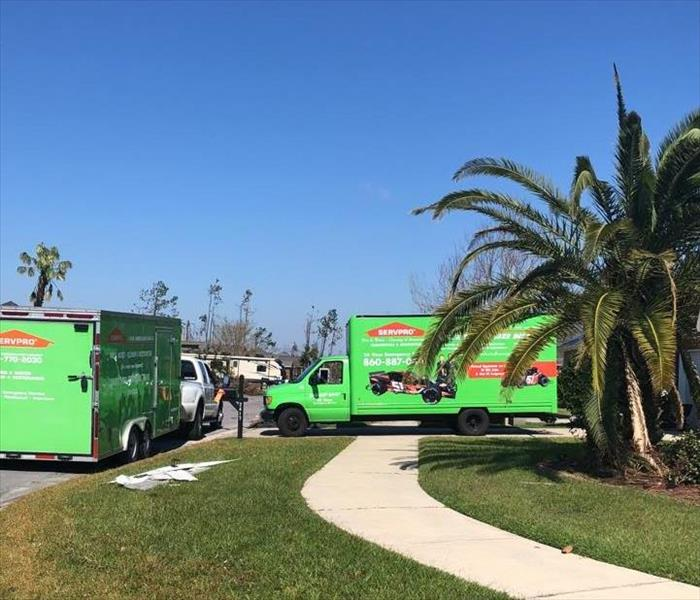 Storm Damage SERVPRO of Norwich & Windham County Helps Victims of Hurricane Michael